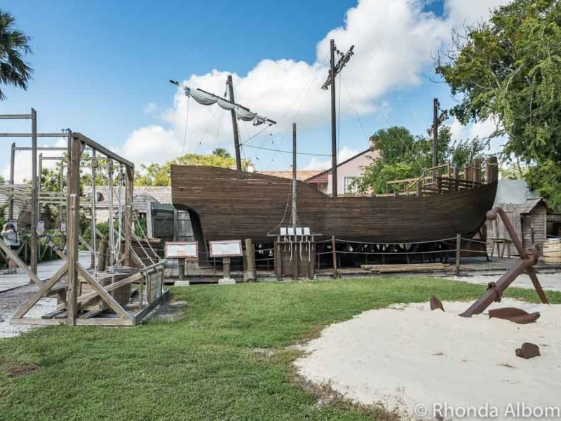 Ship building in Colonial Quarter in St Augustine Florida