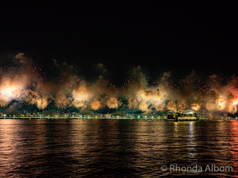 Copacabana Beach Fireworks in Brazil for New Years Eve