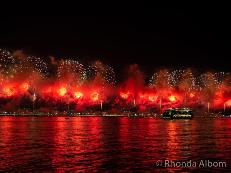 Brazil: Copacabana Beach Fireworks for New Years Eve