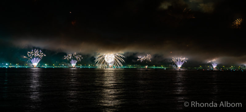 Fireworks in Rio de Janeiro for New Years Eve