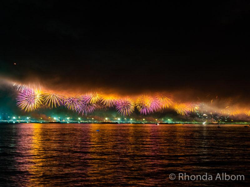 Rio de Janeiro Brazil New Years Eve Fireworks