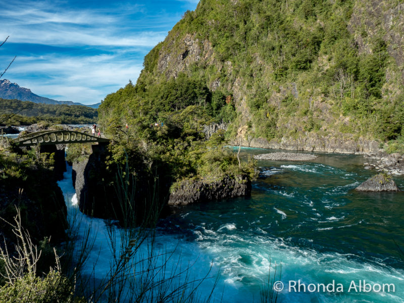 Petrohue Falls in Chile on Cruce Andino