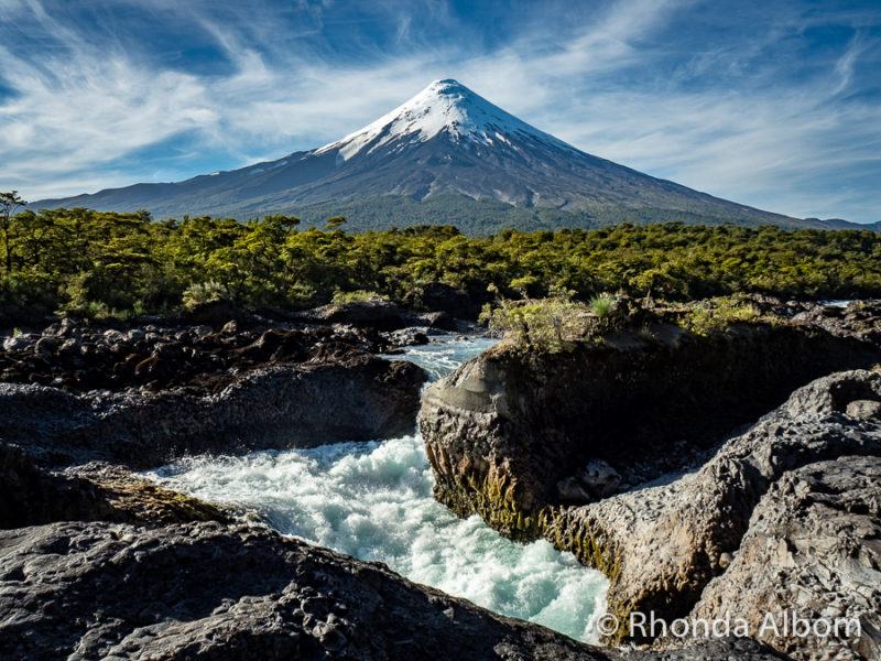 Our travel guide books suggeested Osorno Volcano and Petrohue Falls in Chile. Seen while with Cruce Andino