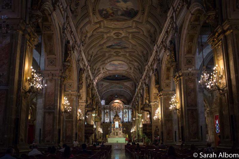 Interior of the Metropolitan Cathedral in Plaza de Armas, Santiago Chile. Photo copyright Sarah Albom
