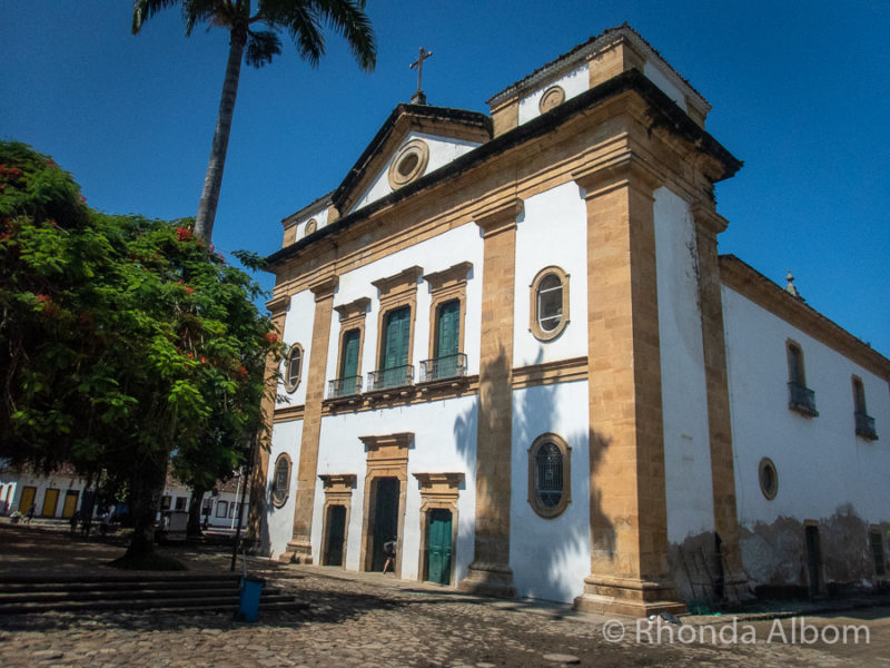 Our Lady of the Remedies in Matriz Square in Paraty Brazil