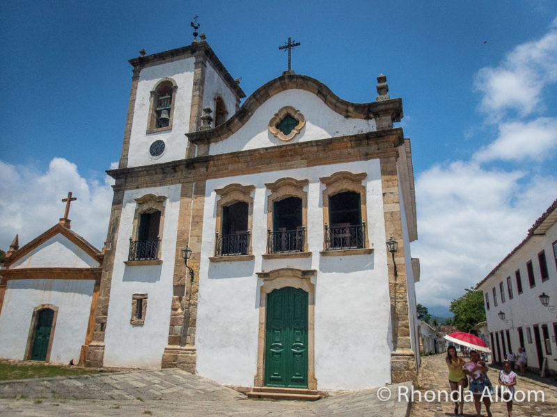 The Chapel of Santa Rita for the mixed people in Paraty Brazil