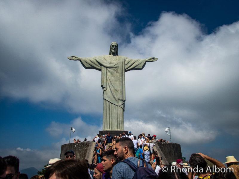 Christ the Redeemer on Corcovado mountain in Rio de Janeiro Brazil