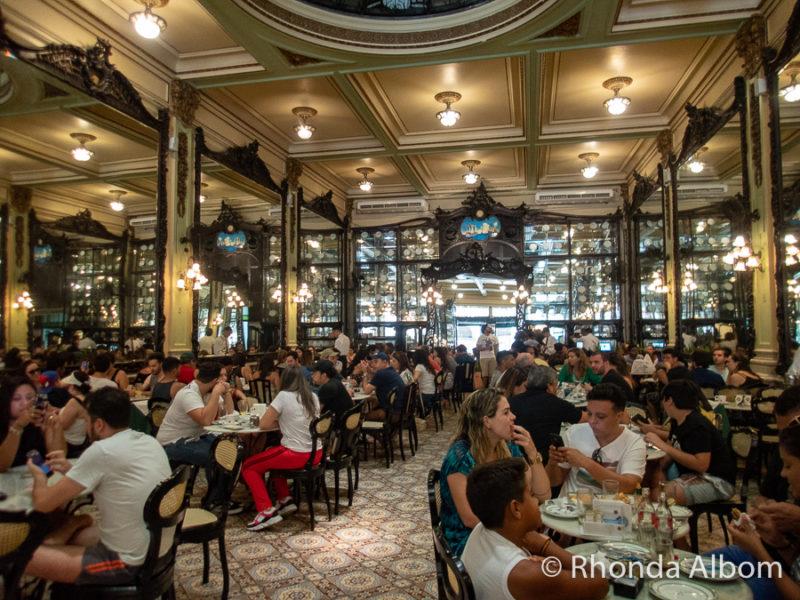 Colombo Confectionary coffee shop in Rio de Janeiro Brazil