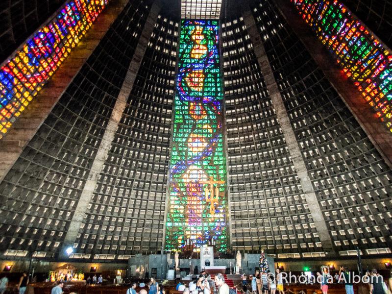 The Metropolitan Cathedral of Saint Sebastian in Rio de Janeiro Brazil