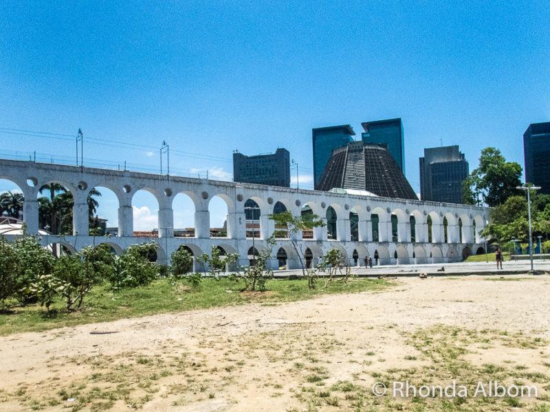 Lapa arches in Rio de Janeiro Brazil