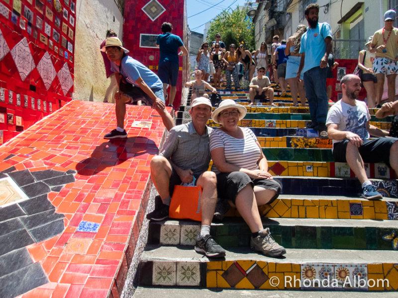 Selaron steps in Lapa neighborhood in Rio de Janeiro Brazil