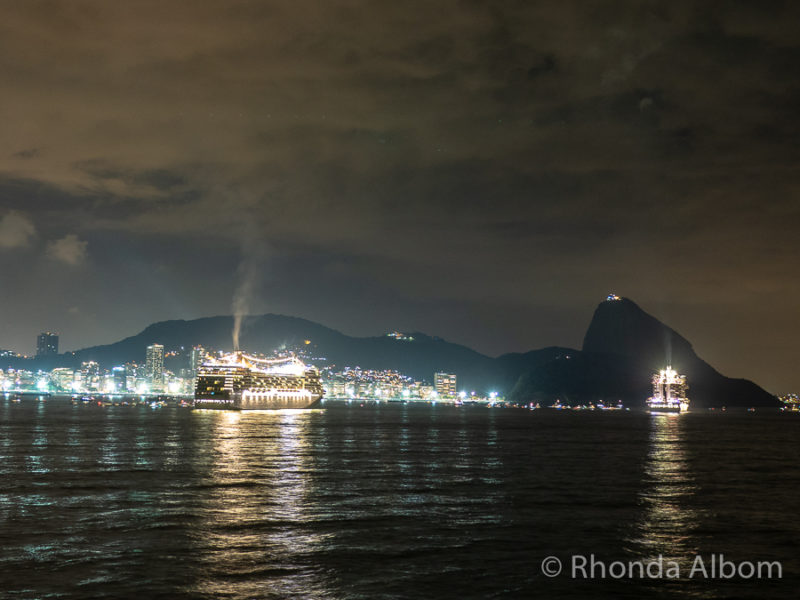 Rio de Janeiro about one hour before the fireworks