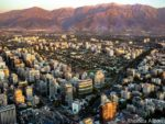View of Santiago Chile from Sky Costanera