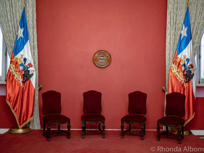 Inside the Montt-Varas room of the La Moneda Palace - Presidential Palace in Santiago, Chile