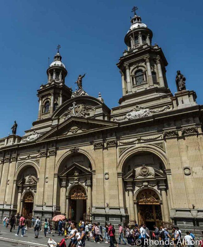 Metropolitan Cathedral in Plaza de Armas, Santiago Chile