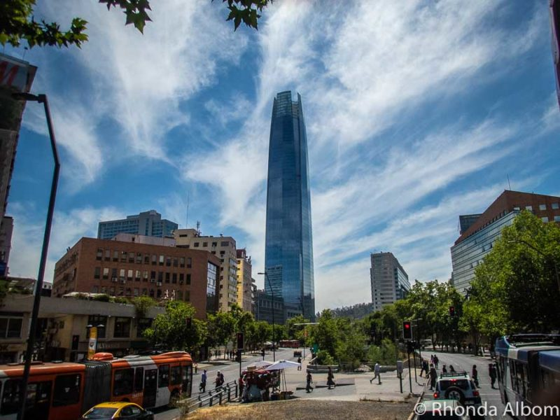 Sky Costanera, the tallest building in Latin America, located in Santiago, Chile
