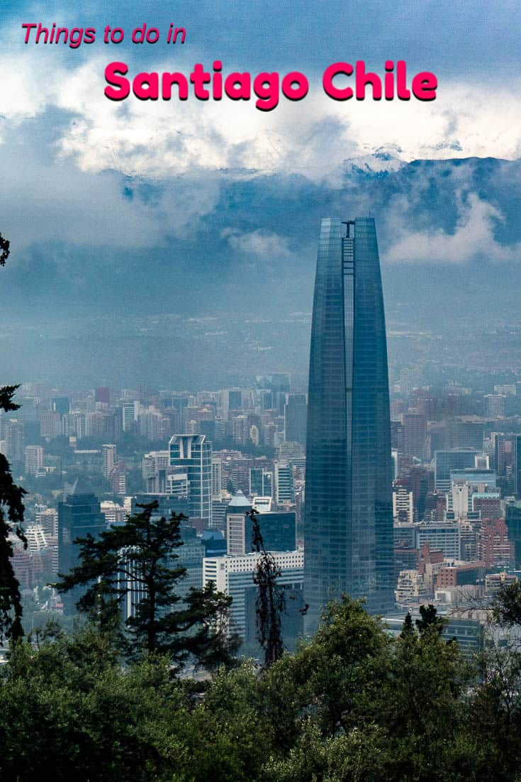 Did you know that Santiago Chile is home to the tallest building in Latin America? Watching the sunset from Sky Costanera is one of the many great things to do in the Santiago. #Travel #SouthAmerica #Chile #Santiago #skyscrapper