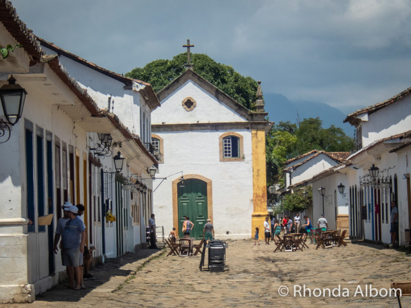 The Church of Lady of the Rosary and Saint Benedict built for the slaves in Paraty Brazil.