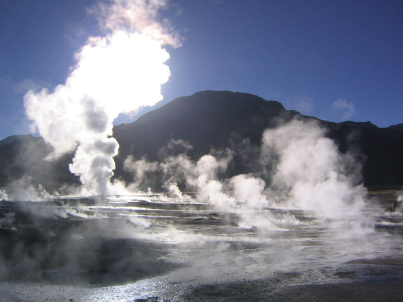 El Tatio Geysers in the Atacama Desert Chile. photo by Phil Whitehouse