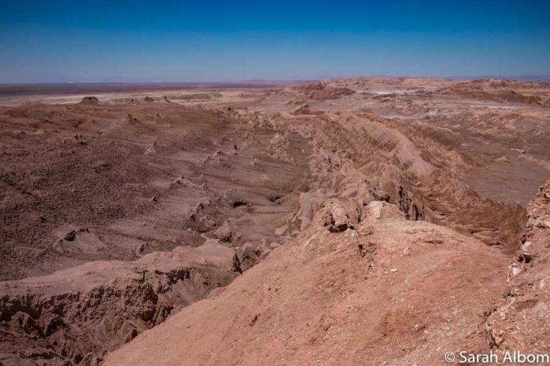 Lookout point Valle de la Luna (Valley of the Moon) in the Atacama Desert in Chile