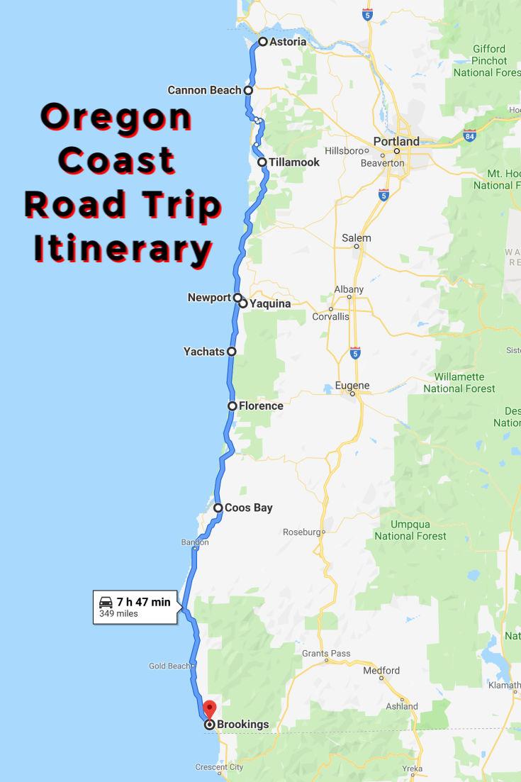 Oregon Coast Road Trip Map