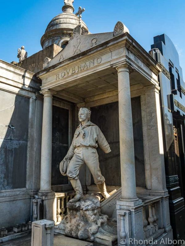Roverano tomb n Recoleta Cemetery in Buenos Aires
