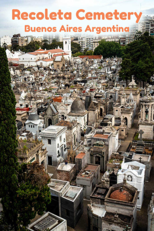 One of the world's most beautiful cemeteries, a visit to the Recoleta Cemetery in Buenos Aires, Argentina is like going to an outdoor art exhibition