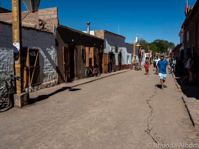 Caracoles Street in the historical part of San Pedro de Atacama, Chile