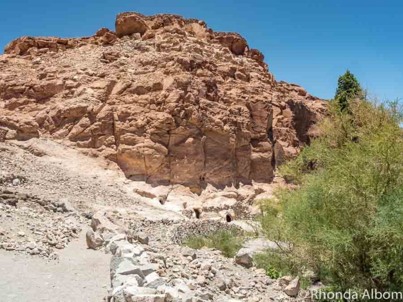 Small cave dwellings from the archieological site at Valle de Jeré, Atacama Desert Chile