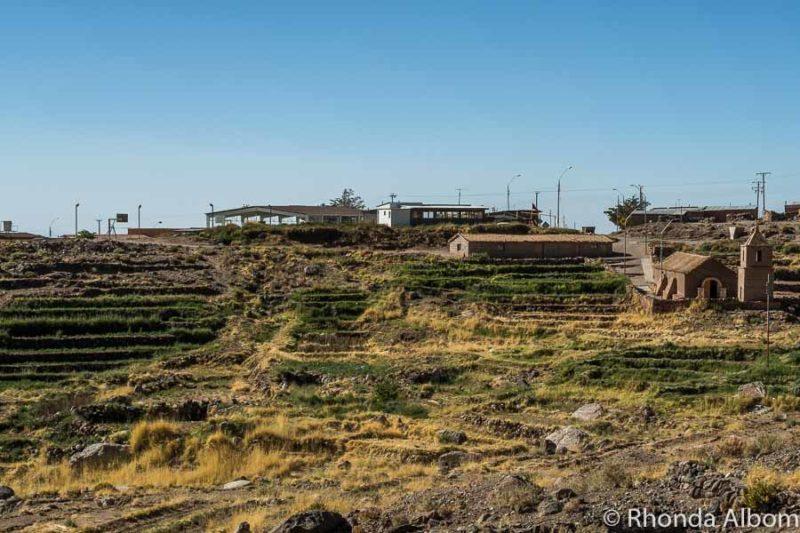 Terraces like the Inca made in Socaire, Atacama Desert