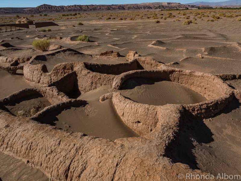 Tulor archaeological site in the Atacama Desert in Chile