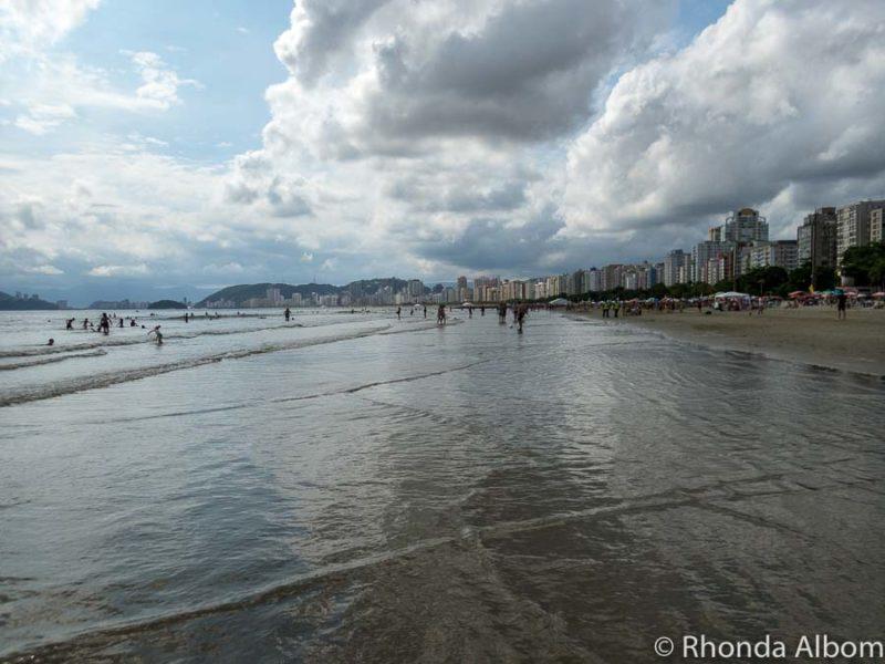 Beach in Santos Brazil