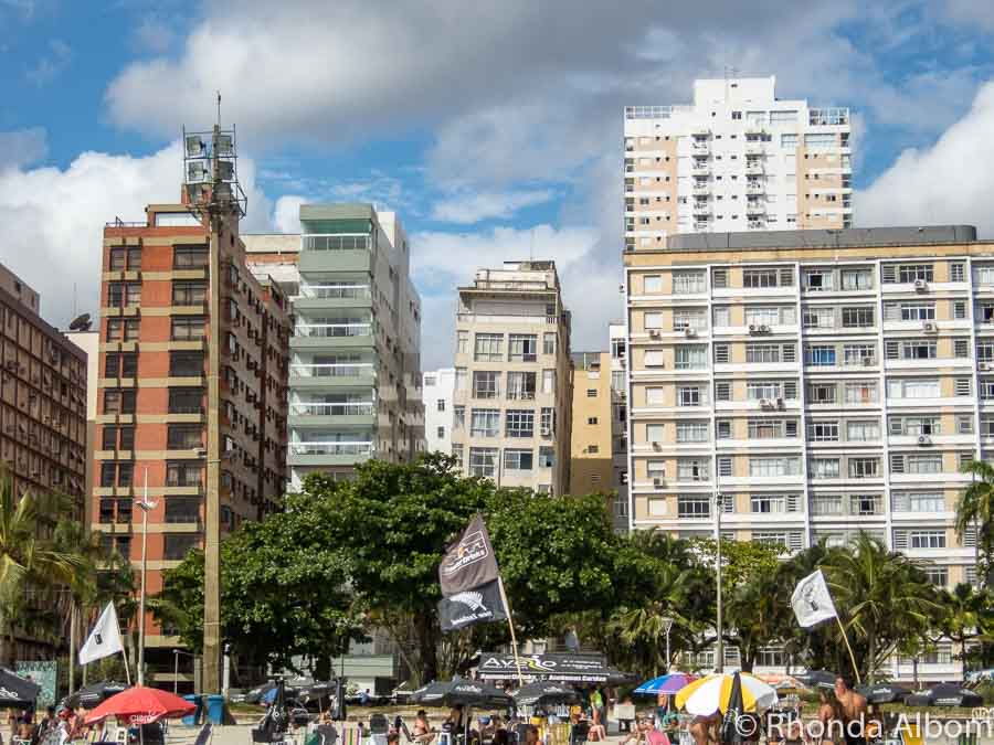 Leaning buildings in Santos Brazil