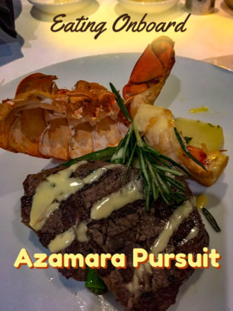 Flavourful and well presented, the food on the Azamara Pursuit is really impressive.
