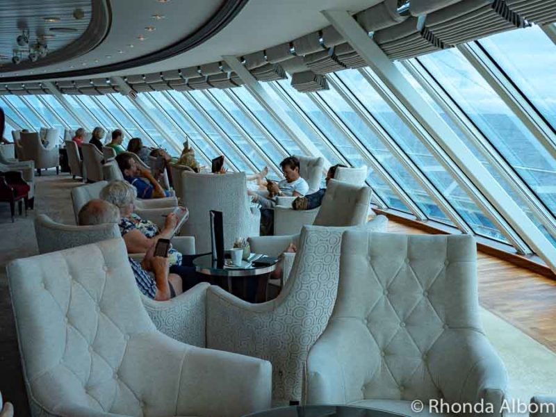 Living Room Azamara Pursuit - a boutique cruise at its best