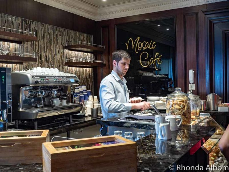 Mosaic Cafe is the specialty coffee shop on board - Azamara cruise reviews