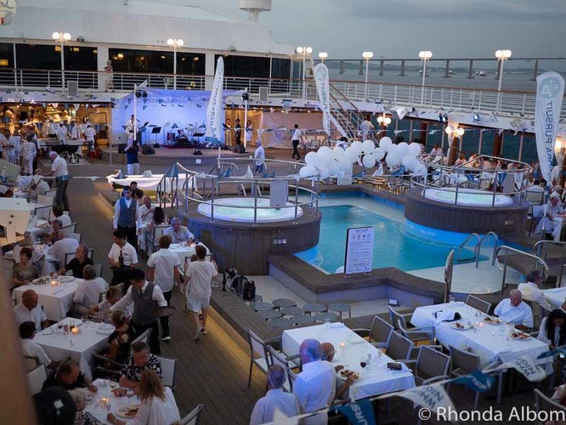 White night is a Azamara signature poolside party.