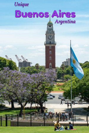 The British clocktower is one of the unique things to see in Buenos Aires, the cosmopolitain capital of Argentina