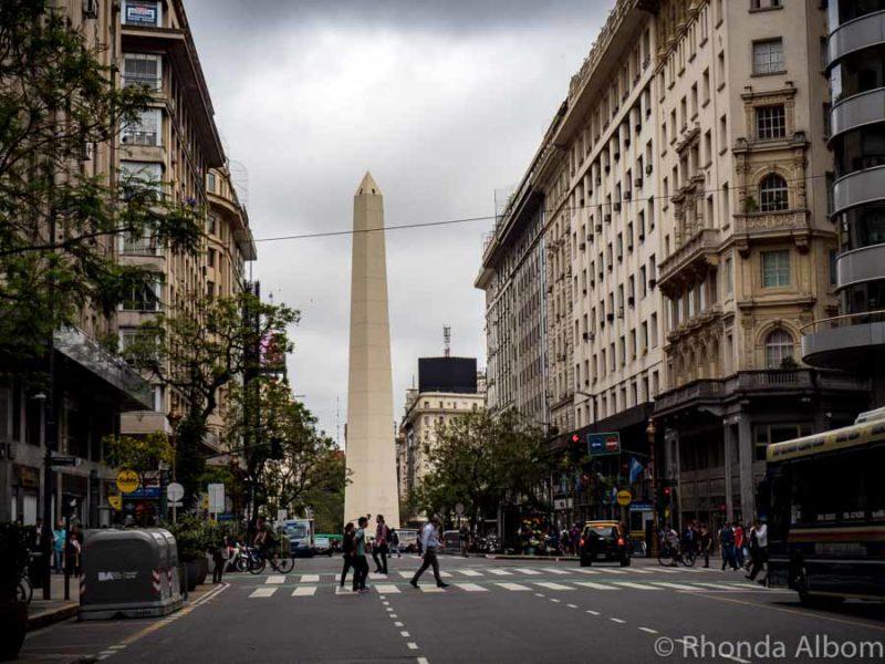 Obelisk in Buenos Aires Argentina