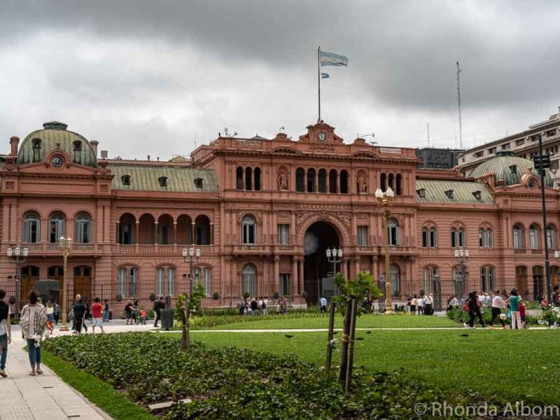 Casa Rosada, the presidential palace of Argentina in Plaza Mayo in Buenos Aires Argentina