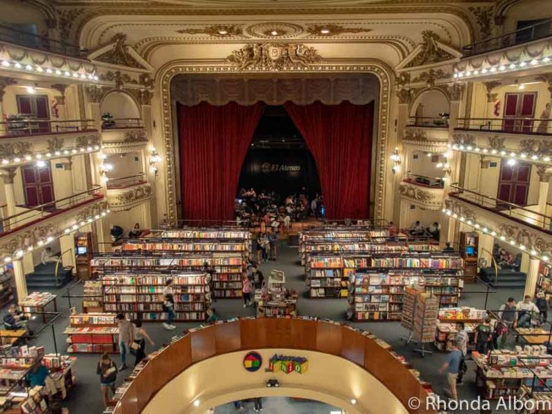 El Ateneo Grand Splendid, named the World's most beautiful book store is one of the places to see in Buenos Aires Argentina