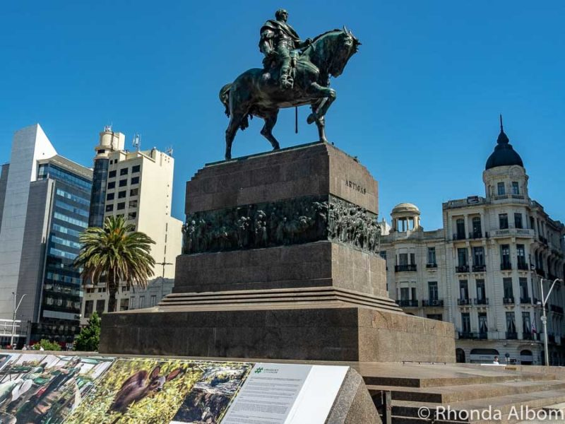 Statue of General Artigas in Montevideo Uruguay