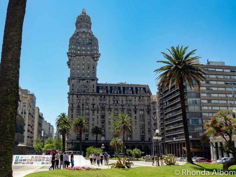 Palacio Salvo in Plaza Independencia in Montevideo Uruguay