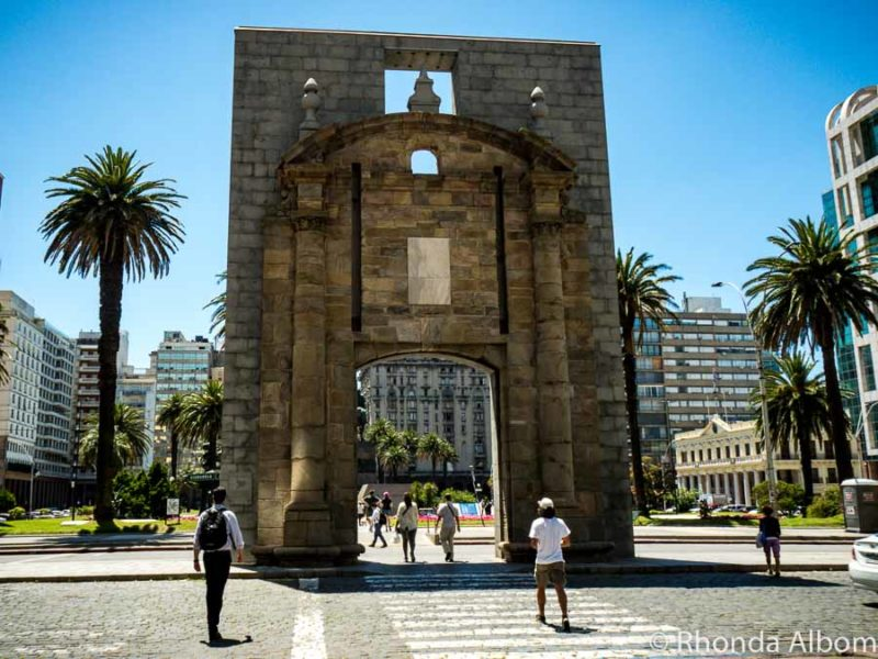 Old gate to the city of Montevideo Uruguay