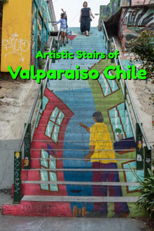 A city filled with colourful staircases, each with their own unique street art, Valparaiso Chile is a vivid example of personal expression.