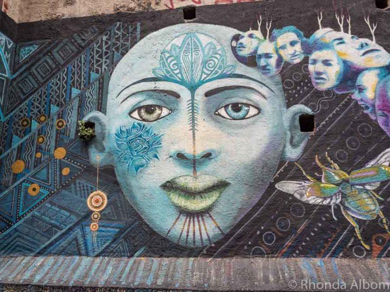 Valparaiso murals on Concepcion Hill, Chile