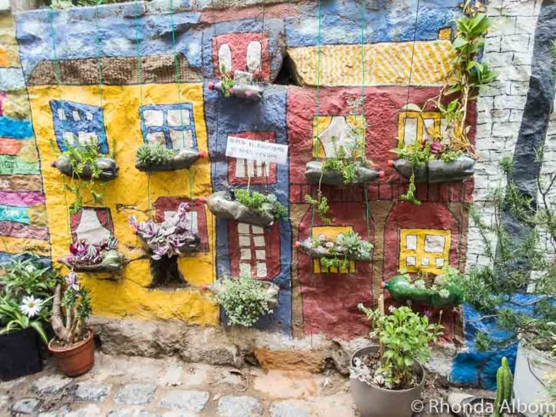 Recycled items used in Valparaiso street art