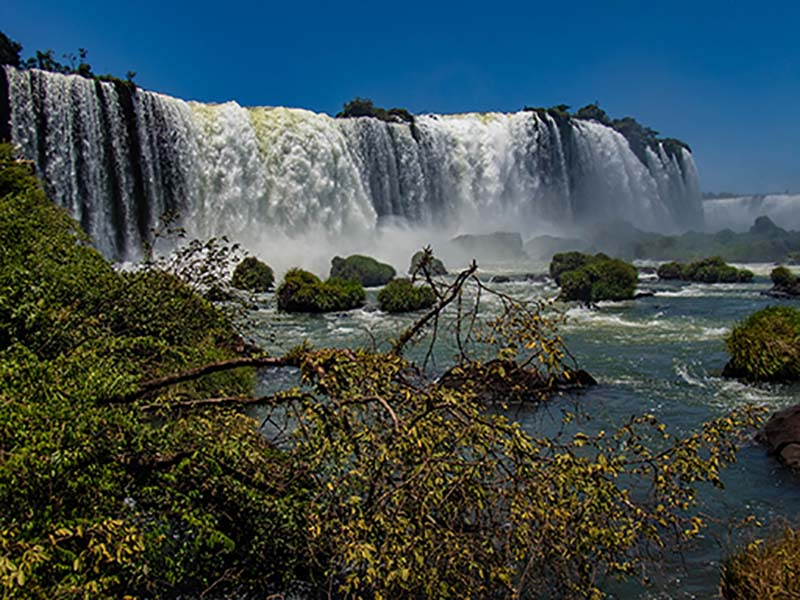 Iguazu Falls Park on the Brazil Side representing the Americas