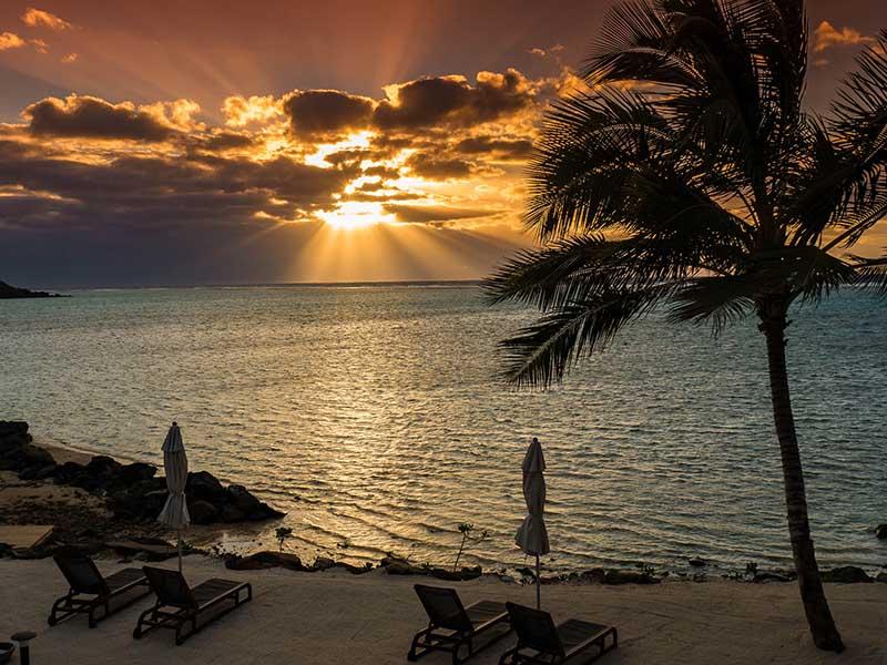 Sunrise in Rarotonga, Cook Islands representing Australaisa