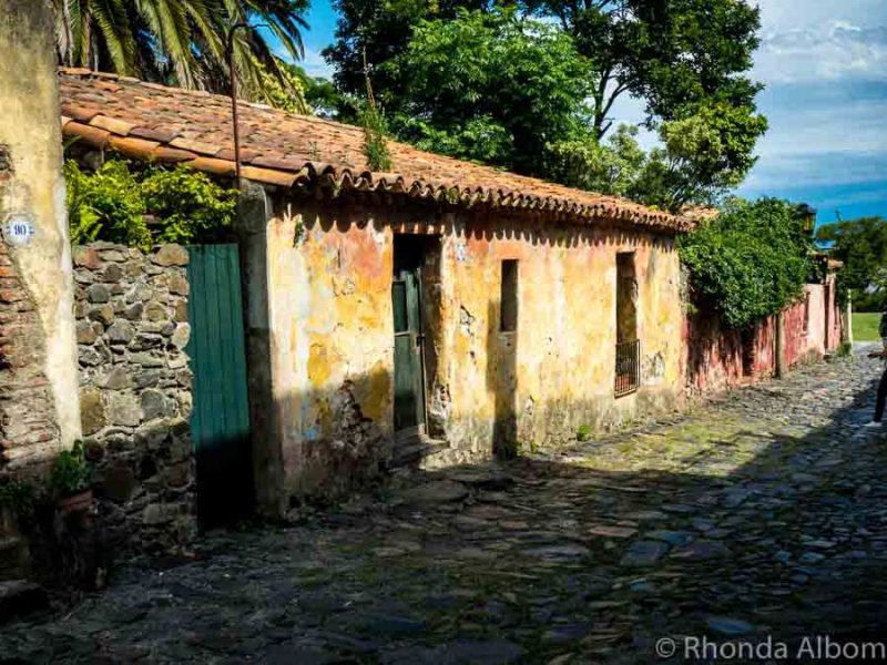 A street in the old historic district of Colonia del Sacramento Uruguay